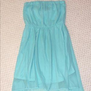 NWOT aqua high low strapless dress